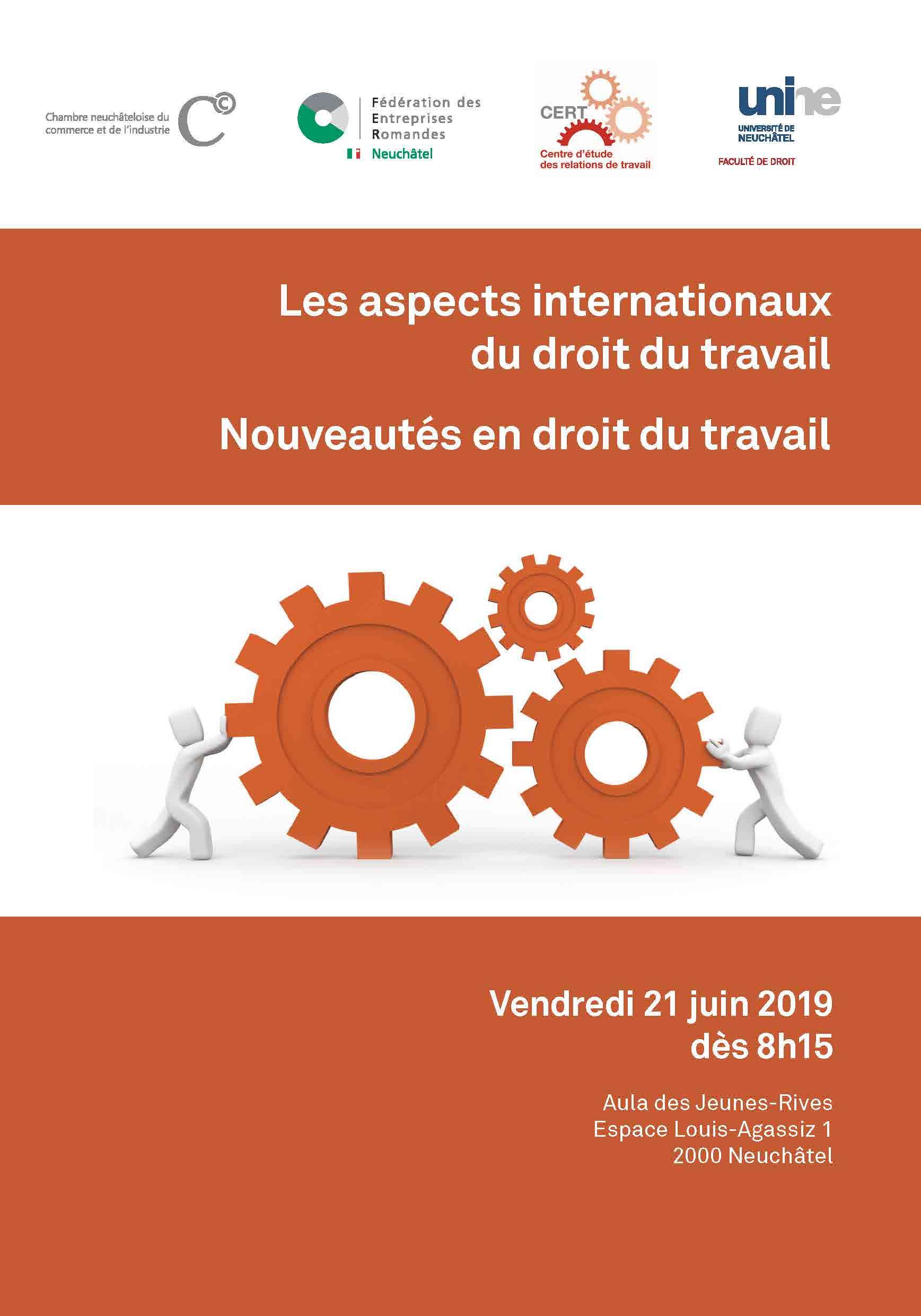 Les aspects internationaux du droit du travail et les nouveautés en droit du travail