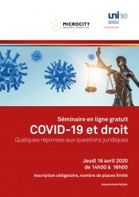 COVID-19 et droit - Séminaire en ligne