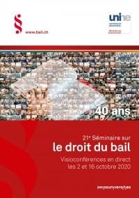 21e Séminaire sur le droit du bail - 1ère édition