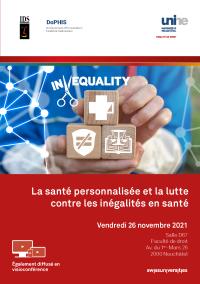 La santé personnalisée et la lutte contre les inégalités en santé