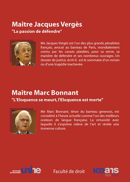DVD - Conférences de Me Jacques Vergès et de Me Marc Bonnant - ÉPUISÉ