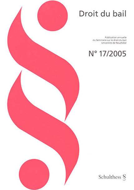 Revue Droit du bail 17/2005