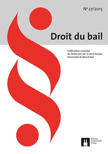 Revue Droit du bail 27/2015