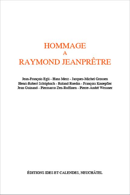 Hommage à Raymond Jeanprêtre