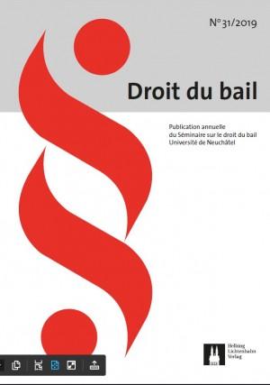 Revue Droit du bail 31/2019